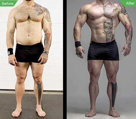 Tillväxthormon före och efter resultat